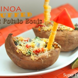 Quinoa Stuffed Sweet Potato Boat Recipe